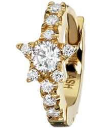 Maria Tash 6.5mm Diamond Star Eternity Single Hoop Earring - Metallic