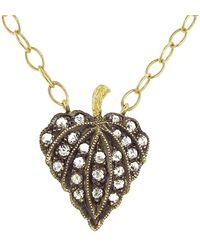 Cathy Waterman - Rose Cut Diamond Leaf Necklace - Lyst