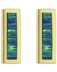 Jennifer Meyer - Short Opal Inlay Bar Stud Earrings - Lyst