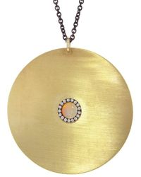 Ileana Makri - Large Opal And Sapphire Sun Necklace - Lyst