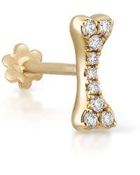 Maria Tash - 7mm Diamond Bone Thread Through Single Earring - Lyst