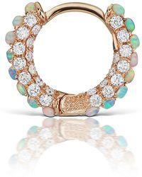 Maria Tash Opal And Diamond Single Hoop Earring - Multicolor