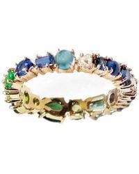 Sharon Khazzam Green And Blue Hued Baby Ring - Multicolor