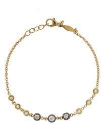 Jacquie Aiche Graduated Black Rhodium Diamond Sophia Yellow Gold Bracelet - Metallic