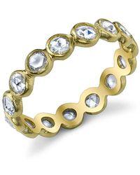 Irene Neuwirth Rose Cut Diamond Ring Band - Metallic