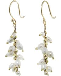 Ten Thousand Things - White Tahitian Pearl Beaded Spiral Earrings - Lyst