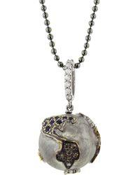 Sharon Khazzam Sapphire World Pendant Necklace - Metallic