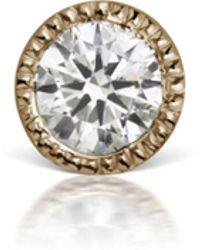 Maria Tash - 2.5mm Scalloped Diamond Thread Through Earring - Lyst