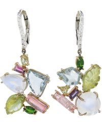 Sharon Khazzam | Multi-stone And Diamond Penny Drop Earrings | Lyst