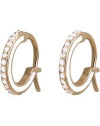 Raphaele Canot - Skinny Deco Mini Hoop Earrings - Lyst