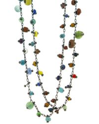 Donna Pizarro Designs 14kt Yellow Gold Multi Colored Bezel Link Sapphire Chain WXpvKlbn