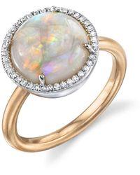 Irene Neuwirth Opal Circle And Diamond Ring - Multicolor