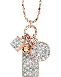 Ginette NY - Mini White Diamond Ever Charm Necklace - Lyst