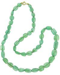 Sharon Khazzam | Emerald Bead Necklace | Lyst