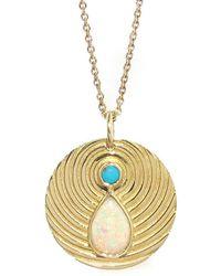 Larisa Laivins - Opal Ripple Pendant Necklace - Lyst