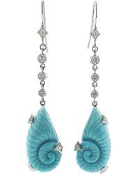 Cathy Waterman - Turquoise Shell Earrings - Lyst