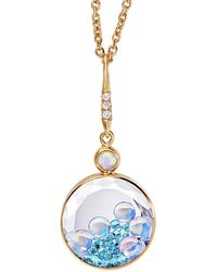 Moritz Glik - Pariaba Tourmaline, Opal And Diamond Shaker Necklace - Lyst