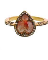 Cathy Waterman - Pear Rustic Diamond Ring - Lyst