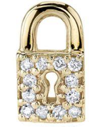 Sydney Evan - Diamond Key Hole Lock Stud Earring - Lyst