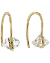 Melissa Joy Manning - Baby Herkimer Diamond Wishbone Earrings - Lyst