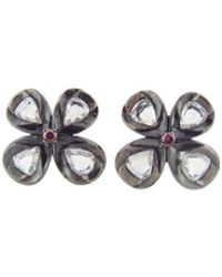 Sethi Couture - Rose Cut Flower Button Stud Earrings - Lyst