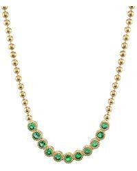 Ark - Emerald Stone Bead Necklace - Lyst