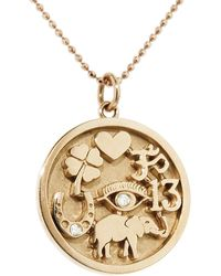 Jennifer Meyer Good Luck Charm Necklace - Metallic