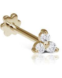 Maria Tash Large Diamond Trinity Threaded Stud Earring - Metallic