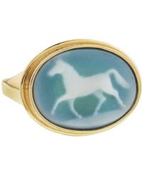 Laura Lee - Horse Cameo Ring - Lyst