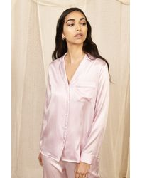 YOLKE Iris Classic Silk Pyjama Set - Pink
