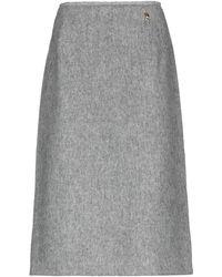 Roberta Scarpa 3/4 Length Skirt - Gray