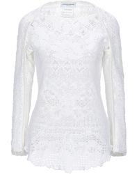 Marine Serre Pullover - Blanc