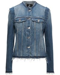7 For All Mankind Denim Outerwear - Blue