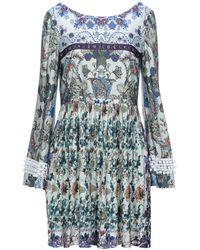 Black Coral Kurzes Kleid - Blau