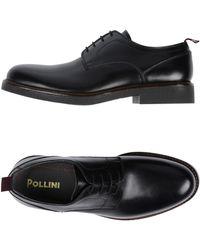 Pollini Lace-up Shoe - Black