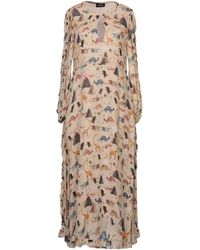 Ottod'Ame 3/4 Length Dress - Natural