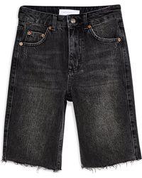 TOPSHOP Bermuda en jean - Noir