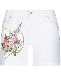 Ean 13 Shorts & Bermuda Shorts - White