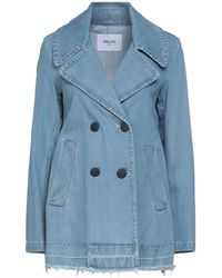 Paltò Denim Outerwear - Blue