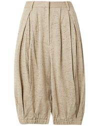 Tibi Cropped Trousers - Natural