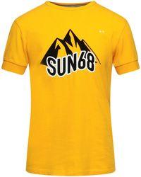 Sun 68 T-shirt - Yellow