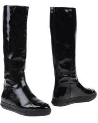 Miu Miu Knee Boots - Black