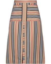 Burberry Midi Skirt - Multicolor