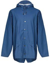 Rains Lange Jacke - Blau