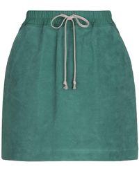 Rick Owens Drkshdw Mini Skirt - Green
