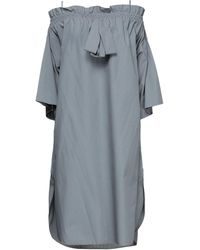 Hache Short Dress - Grey