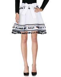 Dodo Bar Or Knee Length Skirt - White