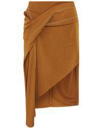 Atlein Mini Skirt - Brown