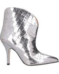 Paris Texas Ankle Boots - Metallic