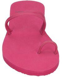 Armani Jeans Toe Strap Sandals - Pink